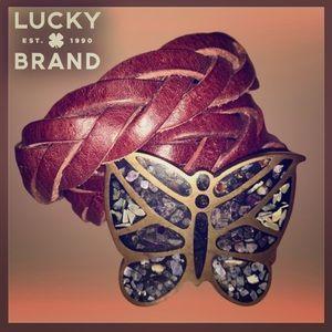 Beautiful vintage Lucky Brand leather belt 🦋 EUC